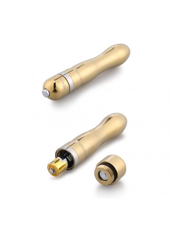 ВИБРОМАССАЖЁР NOTABU 105 мм D 24 мм, 10 режимов вибрации, цвет золото арт. NTU-80426