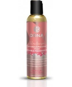 Массажное масло DONA Vanilla Buttercream с ароматом ванильного крема - 125 мл.