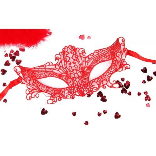 МАСКА АЖУРНАЯ МАРЛЕН цвет красный арт. EE-20359-3