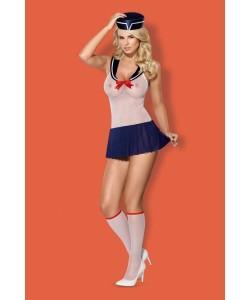 OBSESSIVE Костюм морячки Marine costume 4-psc S/M