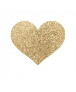 Bijoux Украшение на грудь Flash Heart золотое