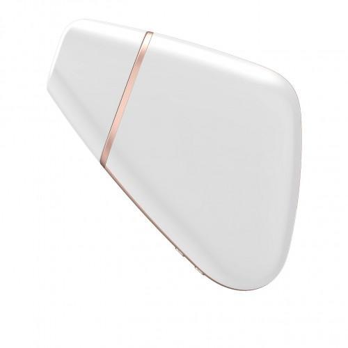 Вакуумный стимулятор клитора Satisfyer Love Triangle White + APP