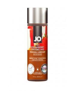 Лубрикант с ароматом клубничного чизкейка JO H2O Strawberry-Cheesecake 60 мл