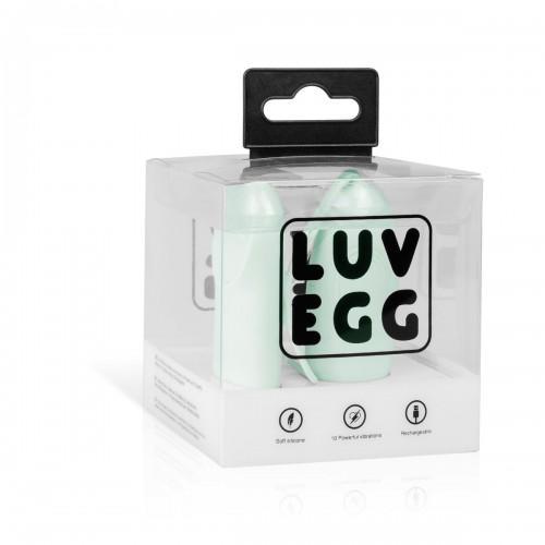 Мятное виброяйцо с пультом ДУ LUV EGG