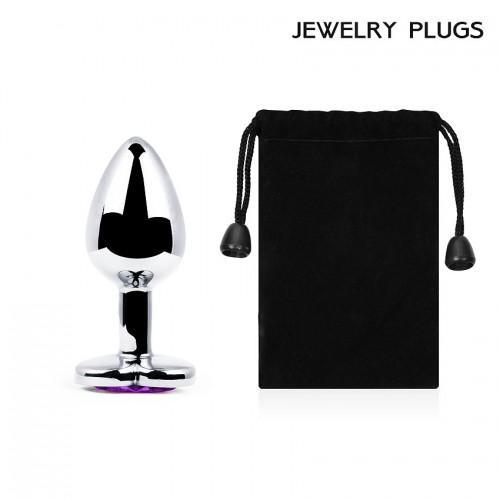 "Металлическая анальная пробка ""Anal Jewelry Heart"" Silver Medium 8 х 3,4 см"