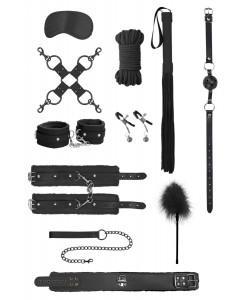 Черный игровой набор БДСМ Intermediate Bondage Kit