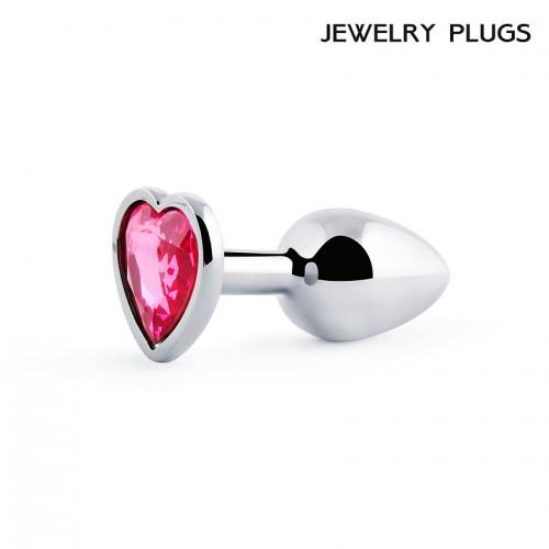 """Металлическая анальная пробка """"Anal Jewelry Heart"""" Silver Small"""