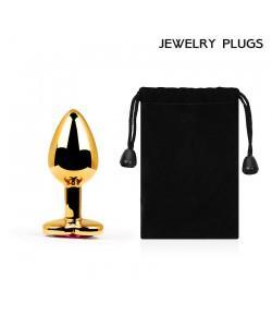 """Металлическая анальная пробка """"Anal Jewelry Heart"""" Gold Small 7 x 2,8 см"""