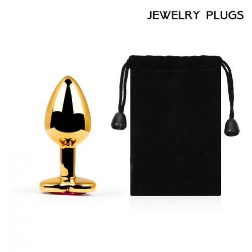 "Металлическая анальная пробка ""Jewelry Plug"" Small Gold 7 х 2,8 см"