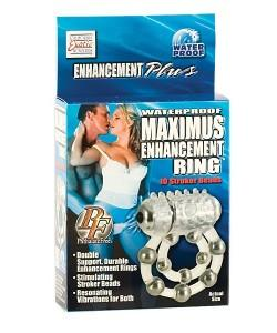 "Эрекционное виброкольцо с массажными бусинами ""Maximus Enhancement Ring"""