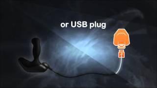 Вибромассажер простаты с вращающейся головкой Nexus Revo Slim