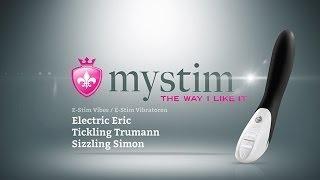"""Вибратор с электростимуляцией Mystim """"Sizzling Simon"""" Black Edition"""