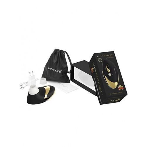 """Вакуумный клиторальный стимулятор """"Womanizer Pro 500 Special Edition"""" Gold Black"""